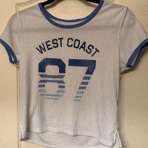 """""""west coast 87"""" crop top"""